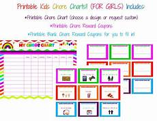Coupon Chart Printable Chore Chart With Reward Coupons For By