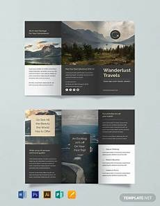 Template For Brochure Free Free Travel Trifold Brochure Template Word Psd