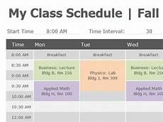 College Class Schedule Maker Template Class Schedule Office Templates Class Schedule