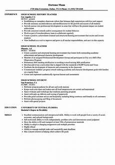 High School Job Resume Sample High School Resume Samples Velvet Jobs