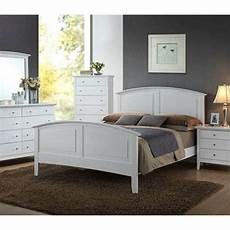 contemporary whiskey white finish 1pc size bed for