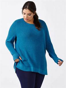 plus size sleeve tops sweaters essentials plus size sleeve sweater penningtons