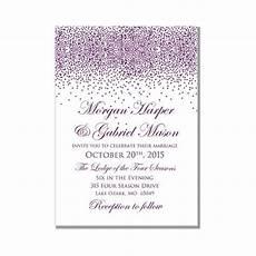 Wedding Invitations Microsoft Word Printable Wedding Invitation Purple Wedding Purple