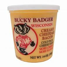 bucky badger wisconsin garlic cold pack cheese food