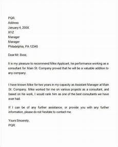 Sample Letter Of Recommendation For Employment Free 14 Sample Recommendation Letters For Employment In