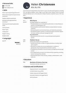 Pediatric Nursing Resume Pediatric Nurse Resume Example Template Initials In 2020
