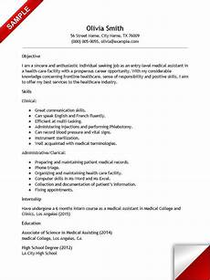 Healthcare Jobs With No Experience Entry Level Medical Assistant Resume With No Experience
