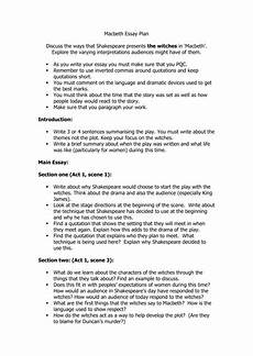 Macbeth Essay Conclusion Macbeth Essay Plan Witches Question Worksheet By