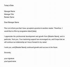 Two Weeks Notice Letter Retail 34 Two Weeks Notice Letter Templates Pdf Google Docs