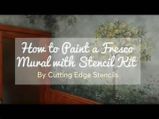 fresco diy how to paint a fresco mural with stencil kit by cutting