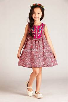 dress pink flower print children clothing size 5 16