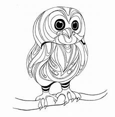 owls to color on owl coloring pages owl and