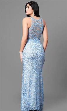 cheap light blue lace prom dress promgirl