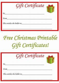 Free Printable Gift Cards Free Christmas Printable Gift Certificates Christmas