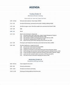 Business Agenda Format 10 Business Meeting Agenda Templates Free Sample