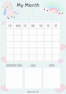 Calender Pages To Print Free Printable Unicorn Calendar Pages Shesaved 174