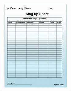 Printable Snack Sign Up Sheet Free 27 Sample Sign Up Sheet Templates In Pdf Ms Word