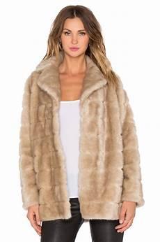 womens fur coats clearance kte kate spade new york mink faux fur coat in chagne