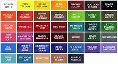 Eternal Ink Colour Chart S Ink By Millenium