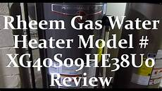 Rheem Water Heater Blue Light The Rheem Natural Gas Water Heater Model Xg40s09he38u0