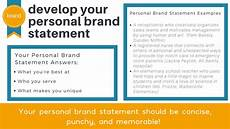 Brand Statement Personal Brand Statement How A Couple Of Sentences Can