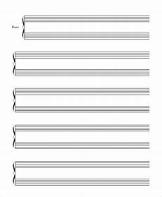 Piano Staff Paper Printable Staff Paper 6 Pdf Documents Download Free