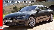2020 audi a7 colors 2019 audi a7 sportback in triton blue color