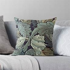 quot william morris acanthus blue pattern quot throw pillow by
