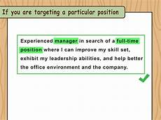 What To Write In Resume 3 Ways To Write Resume Objectives Wikihow