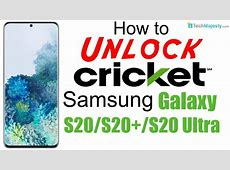 How to Unlock Cricket Samsung Galaxy S20, S20  (Plus