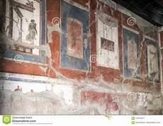 pared fresco de la casa en parco archeologico di