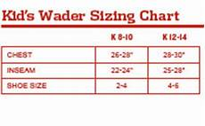 Chest Wader Size Chart Redington Crosswater Youth Wader Waders Amp Wading Boots