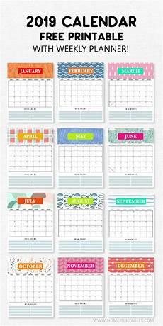 Dsny 2019 Chart Calendar 2019 Calendar Printable With Weekly Planner Super Cute