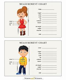 Body Measurement Chart Printable How To Take Body Measurements Free Printable Size Chart