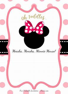 Printable Minnie Mouse Invitations Free Free Pink Minnie Mouse Birthday Party Diy Printable