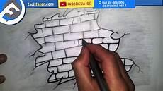 desenho parede como desenhar o uma parede rachada de tijolos draw a