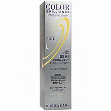 Color Brilliance Light Ash Ion Color Brilliance Intensive Shine 9na Very Light Ash