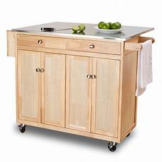 The Randall Portable Kitchen Island With Optional Stools 48 In Kitchen Cart With Stainless Steel Top At The