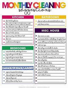 Daily Weekly Monthly Cleaning Customizable Diy Cleaning Checklist Free Printable