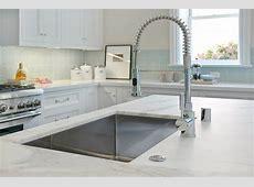 Calcutta Ora Marble Countertop   Contemporary   kitchen   Benjamin Moore Balboa Mist   Cardea
