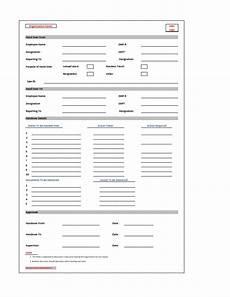 Handover Form Handover Note Form