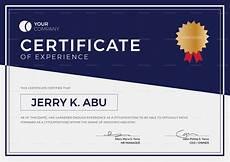 Certificate Format Template Experience Certificate Design Template In Psd Word