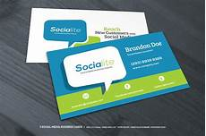 Social Media Business Card Preview 03 Creative Market 3 Social Media Business Cards O