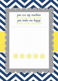 Baby Shower Invites Templates Word You Are My Sunshine Baby Shower Printables How To Nest