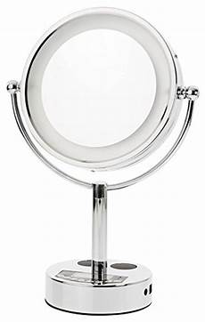 Danielle 5x True Image Lighted Music Mirror In White Danielle Creations Chrome Led Lighted 2 Sided Swivel