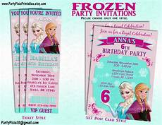 Disney Birthday Party Invitations Disney Frozen Party Invitation And Or Party Package Printable