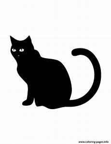 Malvorlage Schwarze Katze Black Cat Silhouette Coloring Pages Printable