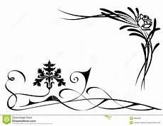 stencil fiori stilizzati fiori stilizzati illustrazione vettoriale illustrazione
