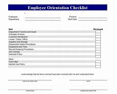 Sample New Hire Orientation Checklist Employee Orientation Checklist New Employee Orientation