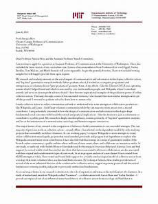 Academic Job Cover Letter Cover Letter Template Academic